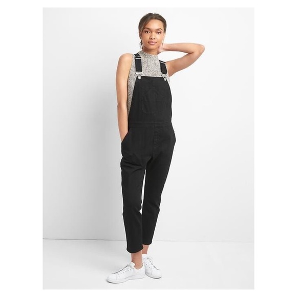 sneakers for cheap how to get best place for GAP Black Straight Leg Overalls